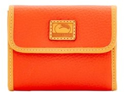 Dooney & Bourke Patterson Leather Small Flap Credit Card Wallet