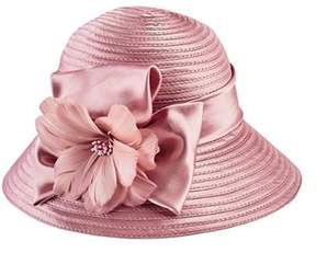 San Diego Hat Company Women's Satin Cloche With Flower Trim Drs3554.