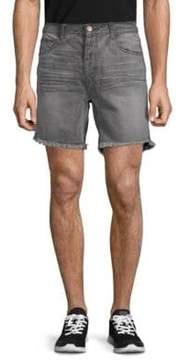 One Teaspoon Phantome Frayed Cuff Denim Shorts