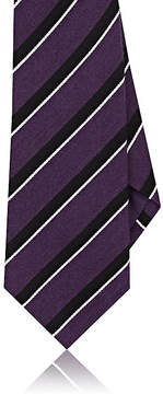 Ralph Lauren Purple Label Men's Diagonal-Striped Silk-Cashmere Necktie