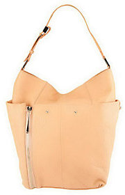 As Is Kelsi Dagger Ayden Pebble Leather Hobo with Zipper Detail