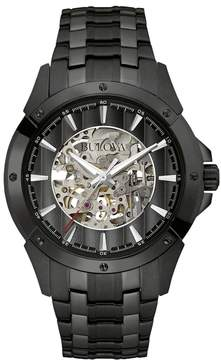 Bulova Men's Stainless Steel Automatic Skeleton Watch - 98A147