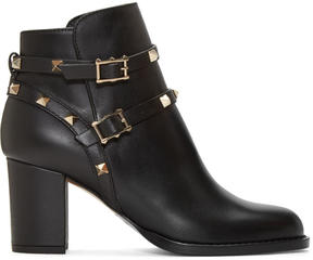 Valentino Black Garavani Rockstud Ankle Boots
