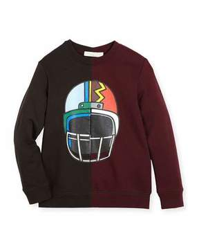 Stella McCartney Biz Two-Tone Helmet Sweatshirt, Size 4-6
