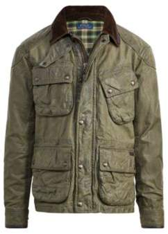 Ralph Lauren The Iconic Waxed Biker Jacket Regiment Green S