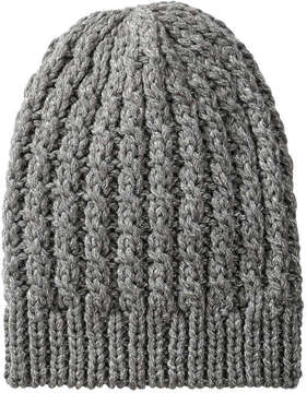 Joe Fresh Women's Shimmer Cable Knit Hat, Silver (Size O/S)