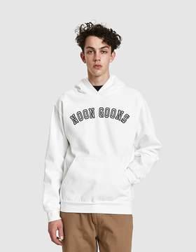Noon Goons Varsity Arc Logo Hoodie in Vintage White