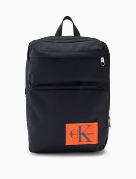 Calvin Klein monogram logo nylon square backpack