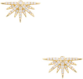 Artisan Women's 18K Yellow Gold & 0.44 Total Ct. Diamond Half Star Stud Earrings