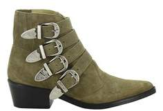 Toga Pulla Women's Beige Suede Ankle Boots.