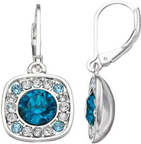 Dana Buchman Blue Crystal Square Drop Earrings