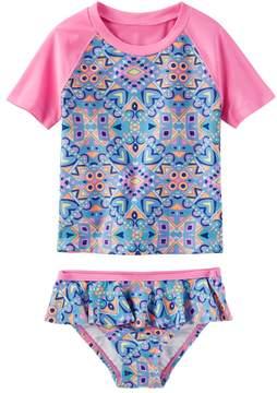 Osh Kosh Oshkosh Bgosh Toddler Girl Tribal Print Rashguard & Bottoms Swimsuit Set