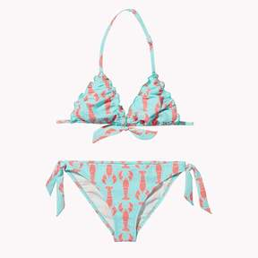 Tommy Hilfiger TH Kids Lobster Print Triangle Bikini Set