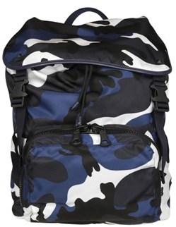 Valentino Men's Blue Polyamide Backpack.