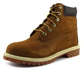 Timberland Junior 6 Premium Waterproof Youth Round Toe Leather Brown Work Boot.