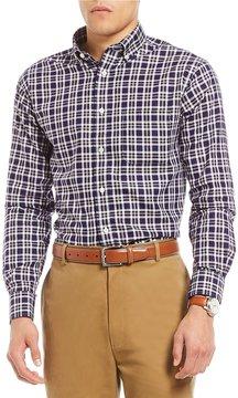 Daniel Cremieux Signature Non-Iron Royal Oxford Plaid Long-Sleeve Woven Shirt