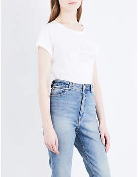 Cheap Monday Glitter-logo cotton-jersey T-shirt