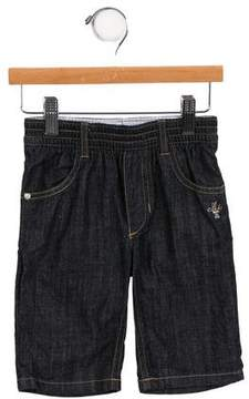 Ikks Girls' Four Pocket Wide-Leg Jeans