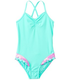 Hula Star Girls' Mermaid Scallops One Piece Swimsuit (2yrs6yrs) - 8138138
