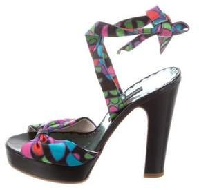 Marc Jacobs Satin Platform Sandals