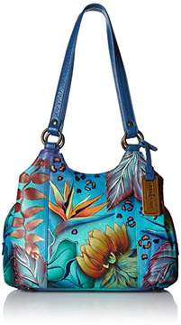 Anuschka Women's Hand Painted Genuine Leather Triple Compartment Satchel |