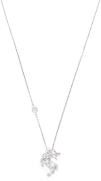 Elizabeth Showers Women's Silver & White Sapphire Sagittarius Zodiac Necklace