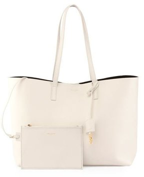 Saint Laurent Large Shopping Tote Bag, White - WHITE - STYLE