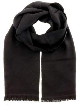 Versace It00632 Nero Black 100% Wool Mens Scarf.