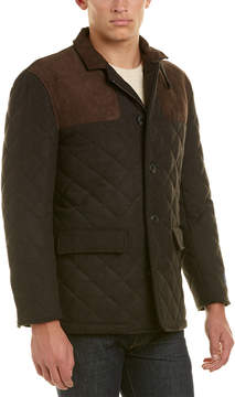 Hart Schaffner Marx Shooter Quilted Wool-Blend Coat