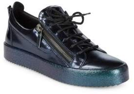 Giuseppe Zanotti Metallic Monotone Leather Sneakers
