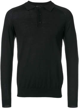 Closed polo collar jumper