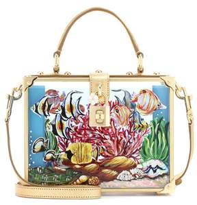 Dolce & Gabbana Dolce Box clutch in Plexiglas® and leather