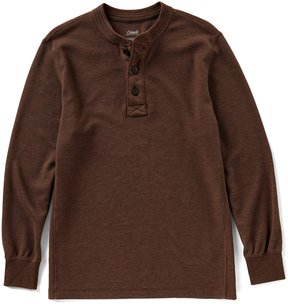 Roundtree & Yorke Casuals Solid Waffle Henley