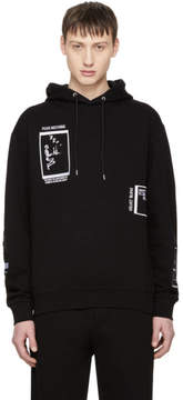 McQ Black Oversized Fear Nothing Hoodie