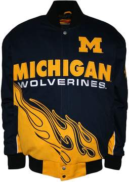 NCAA Men's Franchise Club Michigan Wolverines Hot Route Twill Jacket