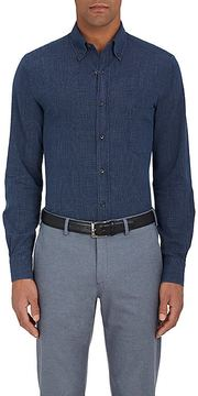 Loro Piana Men's Alfred Checked Cotton Button-Down Shirt