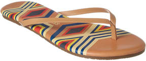 TKEES Graphics Leather Flip Flop