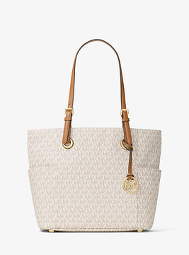 Michael Kors Jet Set Travel Small Logo Tote - NATURAL - STYLE