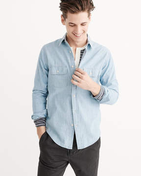 Abercrombie & Fitch Two Pocket Chambray Shirt