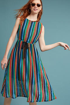 Eva Franco Rainbow Crochet Midi Dress