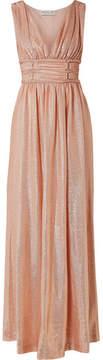 Rachel Zoe Madison Metallic Knitted Maxi Dress - Peach