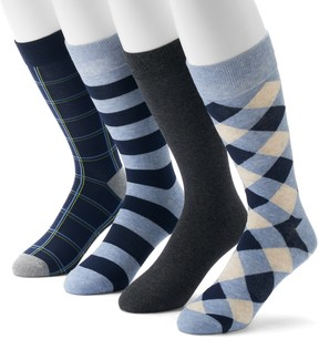 Croft & Barrow Men's 4-Pack Opticool Crew Socks