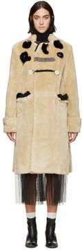 Toga Beige Patchwork Bear Coat
