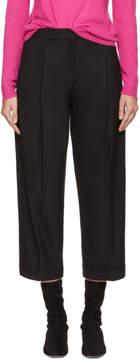 Jil Sander Navy Black Cropped Wide-Leg Trousers