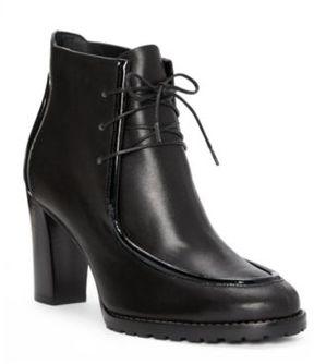 Ralph Lauren Lorenna Calfskin-Patent Boot Black 7