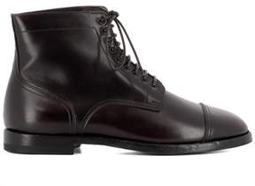Santoni Men's Brown Leather Ankle Boots.