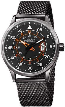 August Steiner Mens Gray Strap Watch-As-8223gn