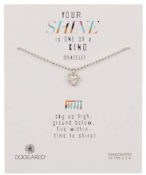 Dogeared Sterling Silver Your Shine Wrapped Heart Bracelet