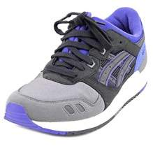 Asics Gel Lyte Iii Gs Youth Round Toe Synthetic Black Sneakers.