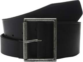Frye 65mm Shaped Leather Belt with Heat Crease on Pilgrim Roller Buckle